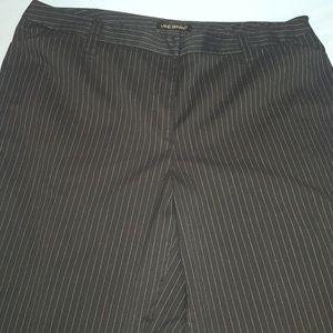 Wide Leg Pinstripe Trouser Pants